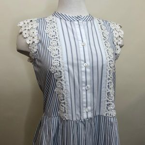 Sea New York striped combo lace dress